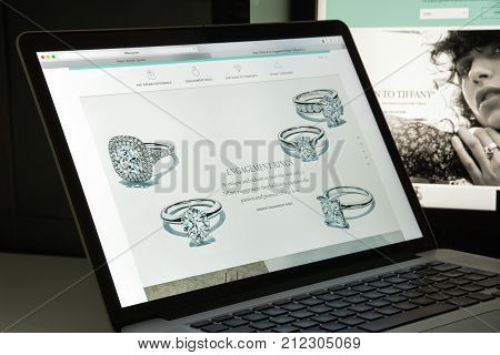 Milan, Italy - August 10, 2017: Tiffany Website Homepage. It Is An American Luxury Jewelry And Speci