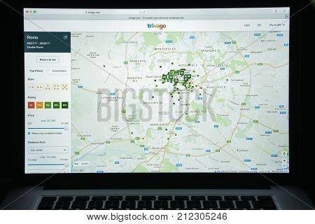 Milan, Italy - August 10, 2017: Tripadvisor Website Homepage. It S An American Travel Website Compan
