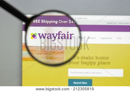 Milan, Italy - August 10, 2017: Wayfair.com Website Homepage. It Is An American E-commerce Company T