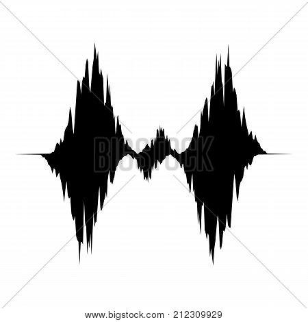 Equalizer waveform icon. Simple illustration of equalizer waveform vector icon for web