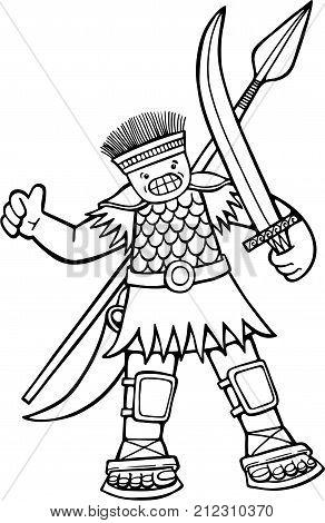 Cartoon illustration of the giant Philistine warrior Goliath.