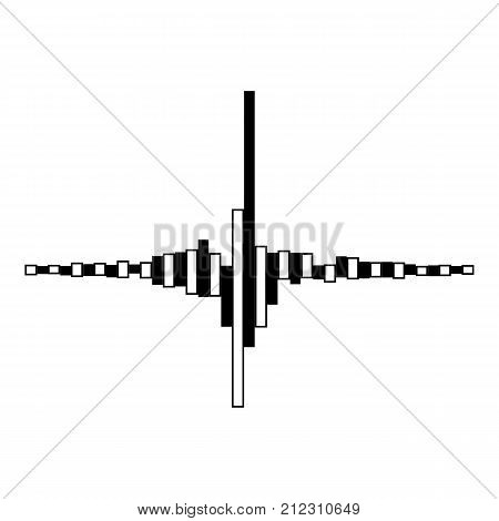 Equalizer melody icon. Simple illustration of equalizer melody vector icon for web