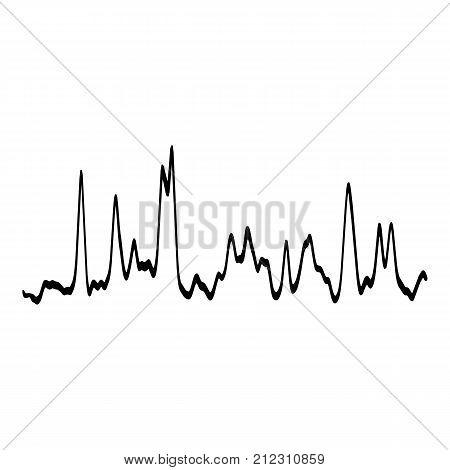 Audio equalizer waveform icon. Simple illustration of audio equalizer waveform vector icon for web