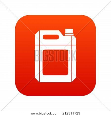 Plastic jerry can icon digital red for any design isolated on white vector illustration