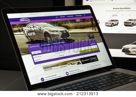 Milan, Italy - August 10, 2017: Cars.com Website Homepage. It Is A Website Which Was Launched In Jun