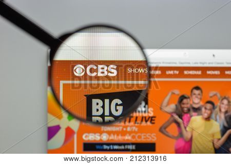 Milan, Italy - August 10, 2017: Cbs Website Homepage. It Is An American English Language Commercial