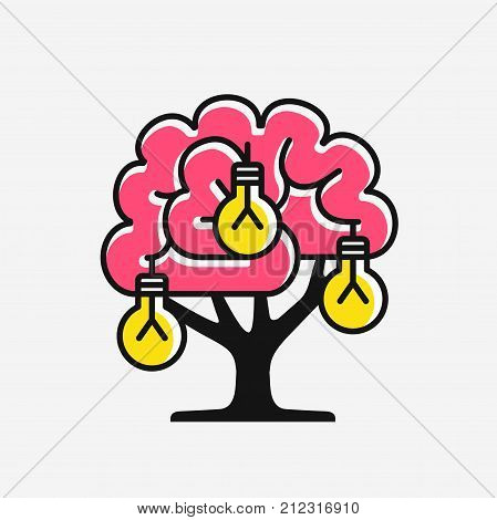 New ideas generation, concept of inventing ideas, vector illustration