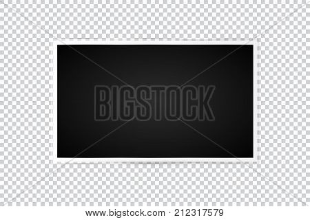 Realistic Tv Screen In Modern Style On Transparent Background. Flat Vector Illustration Eps 10