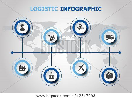 Infographic design with logistic icons, stock vector