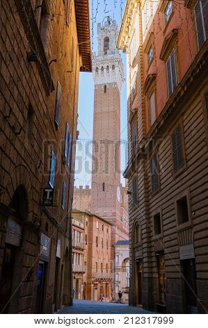 Siena Day View, Tuscany, Italy