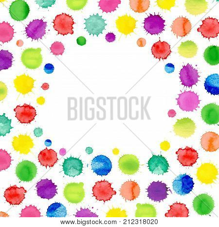 Multicolored Watercolor Blot Template. Abstract Watercolor Background