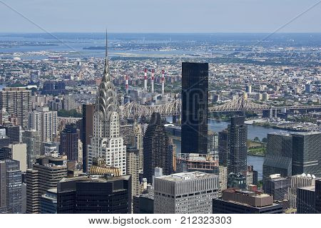 New York, Usa Seen From Above