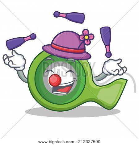 Juggling adhesive tape character cartoon vector illustration