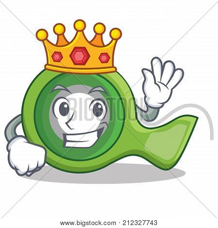 King adhesive tape character cartoon vector illustration