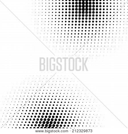 Grunge halftone textured pattern with dots. Vector pop art dotted halftone gradient design element. Dots abstract template background
