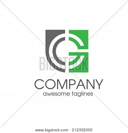 simple modern creative letter G  target icon vector, letter G concept