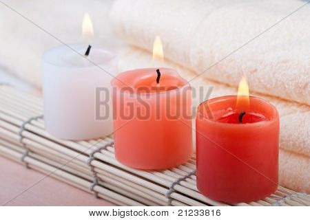 Red Spa Candles