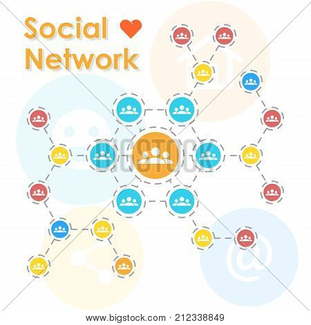 Online connection concept. Social media communication. Business network.