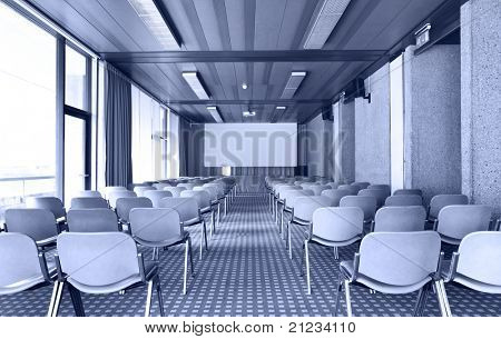 interior of a Congress Palace, conference hall