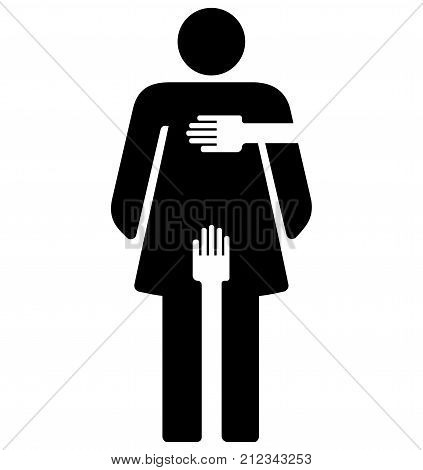 Sexual Harassment - woman sign - woman pictogram