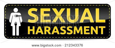 Sexual Harassment - Banner With Woman Pictogram