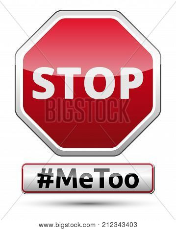#MeToo - STOP traffic sign with shadow