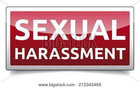 Sexual Harassment - glossy banner with shadow