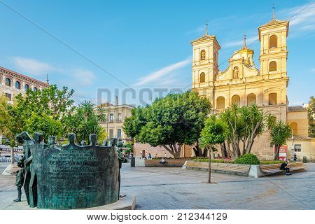 MURCIA,SPAIN - OCTOBER 4,2017 - View at the church of Santo Domingo in Murcia. Murcia is the seventh largest city in the Spain.
