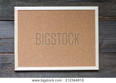 Old empty cork board on vintage retro boards background