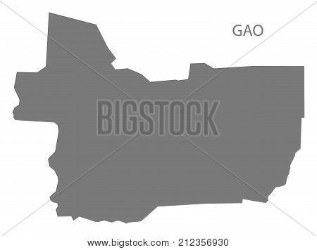 Gao Region Map Of Mali Grey Illustration Silhouette Shape