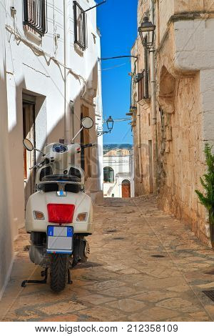 Alleyway of Ceglie Messapica. Puglia. Southern Italy.