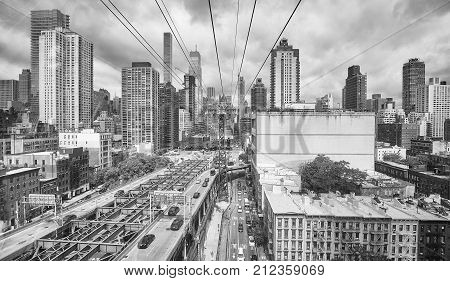 Black And White Picture Of New York City.