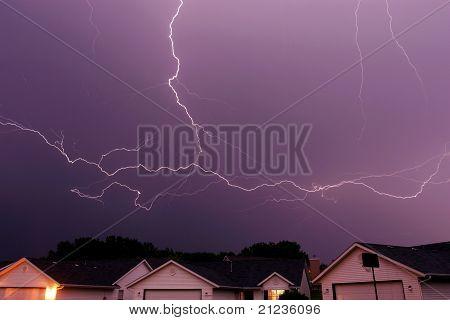 spreading lightning strike
