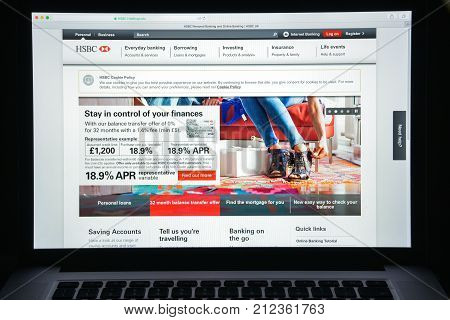 Milan, Italy - August 10, 2017: Hsbc Bank Website Homepage. It Is Part Of A British–hong Kong Multin
