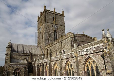 St David's historic cathedral Pembrokeshire Wales UK