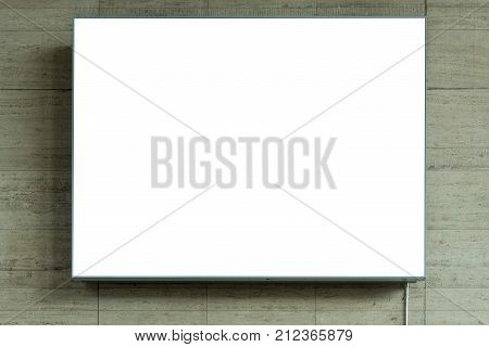 Blank Ad Space Sign On Stone Wall