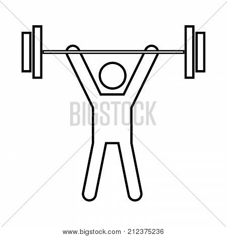 Man Uping Weight It Is Black Icon .