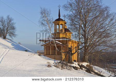 Chapel of the Assumption Mother of God in a village Markovskaya Verkhovazhsky District Vologda Region, Russia