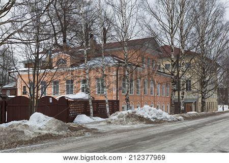 Verkhovazhye, Vologda region, Russia - March 4, 2015: House of Artist in Mikhaleva Verkhovazhye Vologda Region, Russia