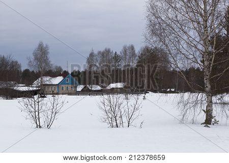 Forest settlement Undercity in Velsky district, Arkhangelsk region, Russia