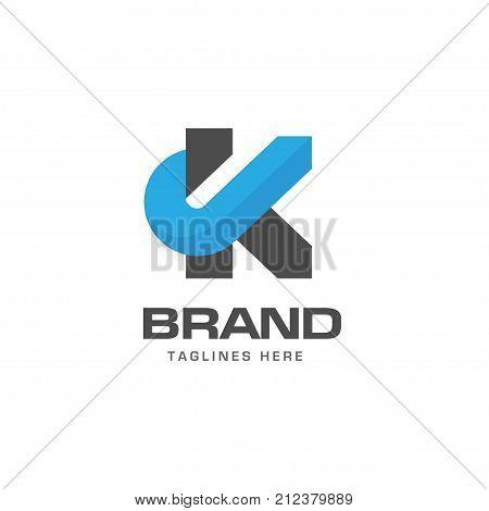 Letter K logo strong elegant classy concept, creative letter K template logo