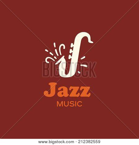 Modern vector professional sign logo jazz music.