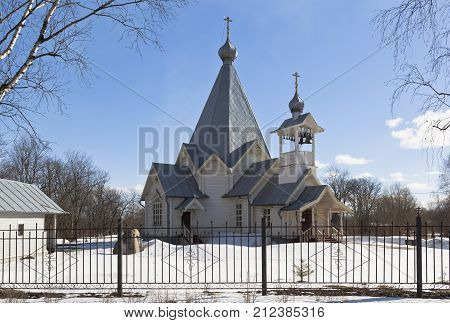 Temple in honor Ascension of the Lord in the city Sokol, Vologda region, Russia