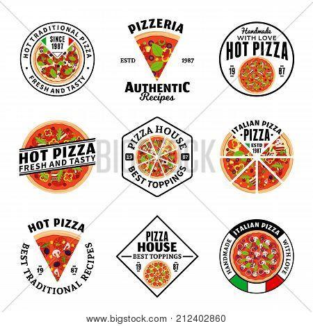 Vector Pizza Logo Collection
