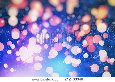 twinkled christmas background with circles, abstract Christmas background