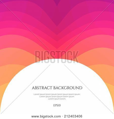 Abstract background with curved lines. Specify the direction of the movement. Simple geometric shapes.