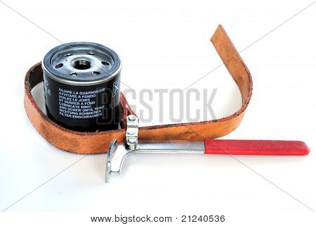 oil filter and special wrench