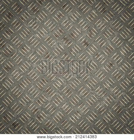 Illustration of a diamond metal plate texture