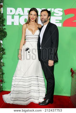 Jamie Mazur and Alessandra Ambrosio at the Los Angeles premiere of 'Daddy's Home 2' held at the Regency Village Theatre in Westwood, USA on November 5, 2017.