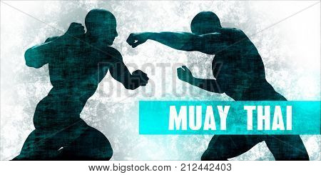 Muay thai Martial Arts Self Defence Training Concept